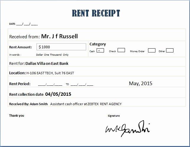 14 Rent Receipt Templates Excel Pdf formats