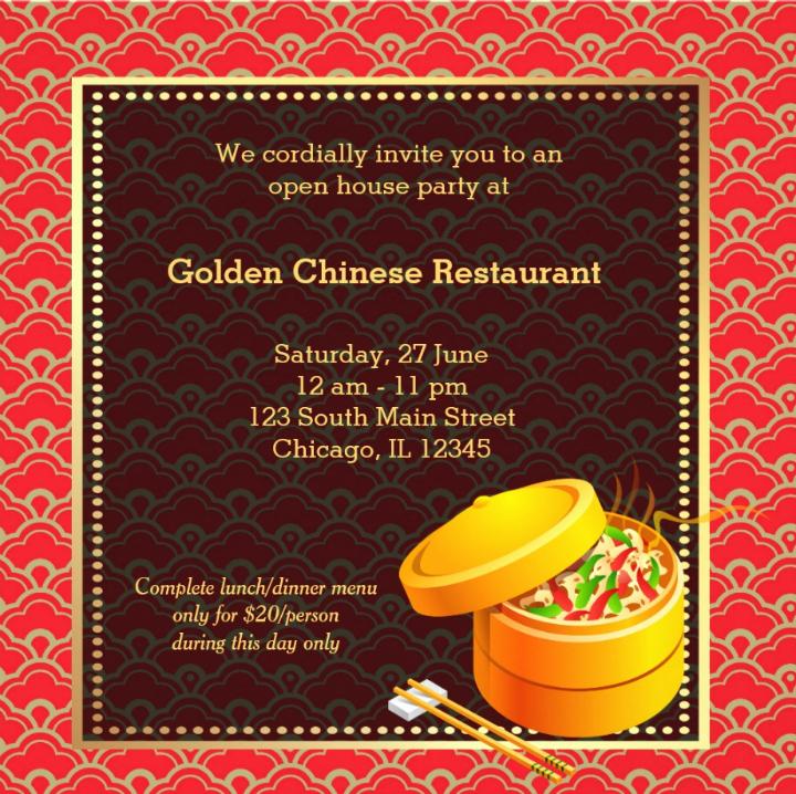 14 Restaurant Grand Opening Invitation Designs