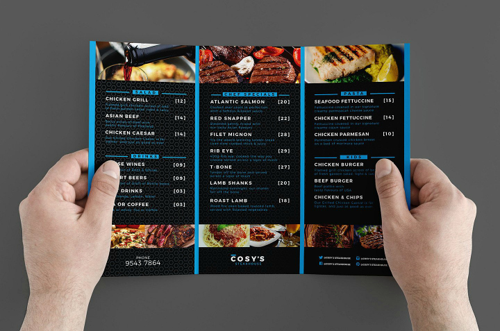14 Restaurant Tri Fold Brochure Designs & Templates Psd