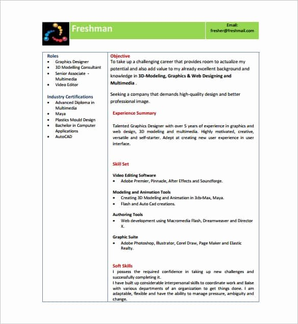 14 Resume Templates for Freshers Pdf Doc