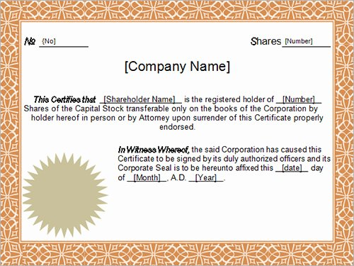14 Sample Certificates