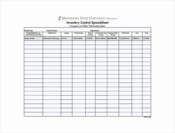 14 Sample Inventory Spreadsheet Templates Pdf Doc