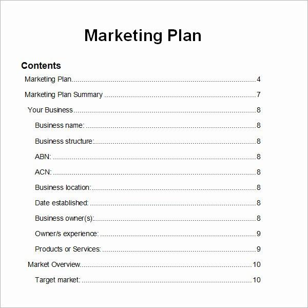 14 Sample Marketing Plan Templates