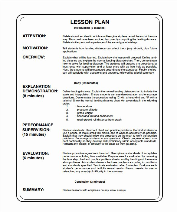 14 Sample Printable Lesson Plans – Pdf Word Apple Pages