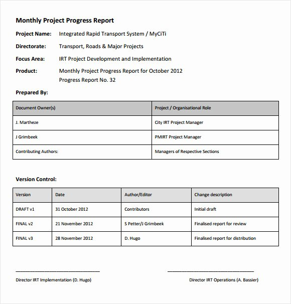14 Sample Project Status Reports – Pdf Word Pages