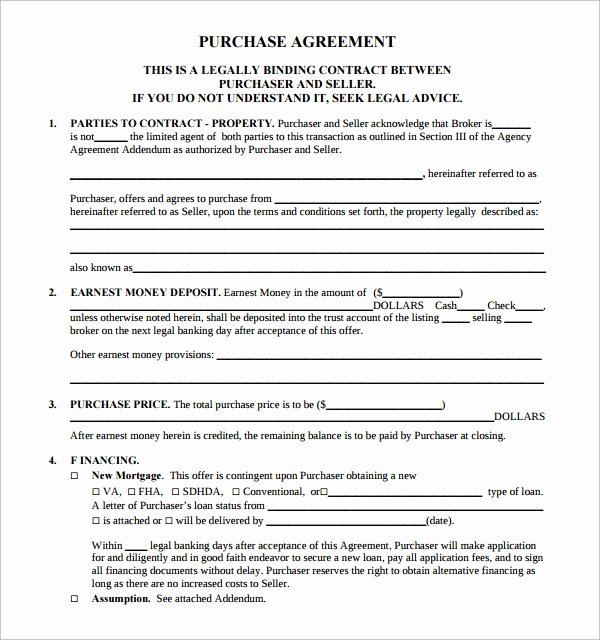 14 Sample Real Estate Purchase Agreement Templates