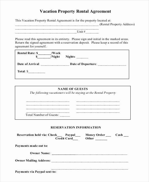 14 Short Term Rental Agreement Templates – Free Sample