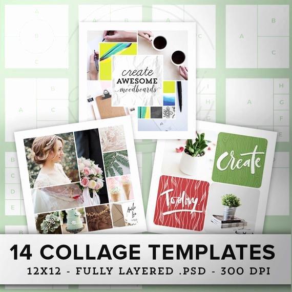 14 Square Collage Templates Moodboard Template