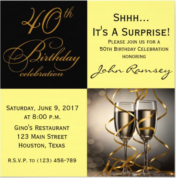 14 Surprise Birthday Invitations Free Psd Vector Eps