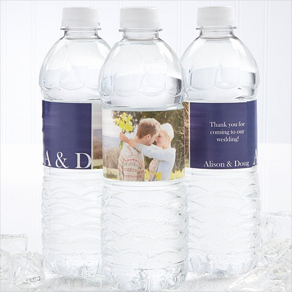14 Water Bottle Label Templates Design Templates