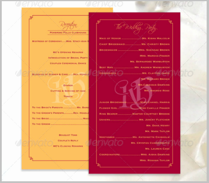 14 Wedding Program Templates Psd Ai