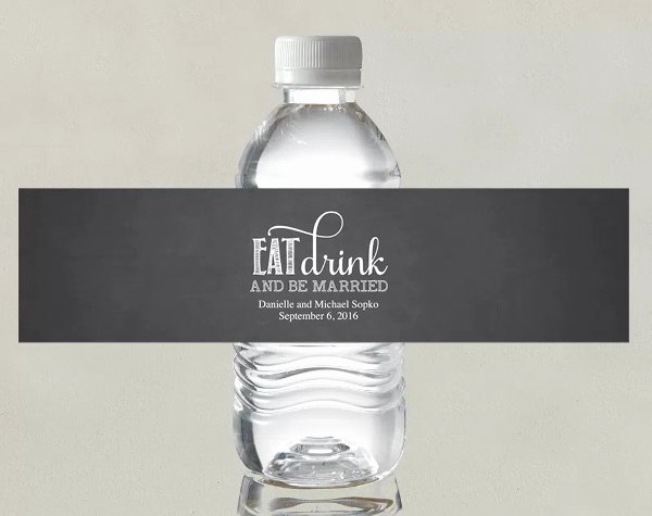 14 Wedding Water Bottle Label Templates Psd Word Pdf