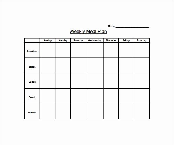 14 Weekly Meal Plan Templates