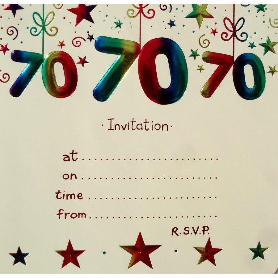15 70th Birthday Invitations Design and theme Ideas