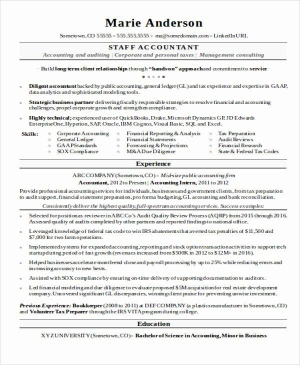 15 Accountant Resume Templates Pdf Doc