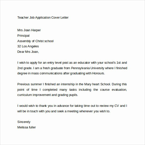15 Application Cover Letter Templates – Samples Examples