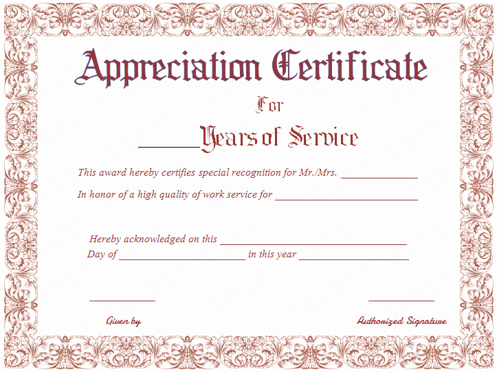 15 appreciation certificate designs