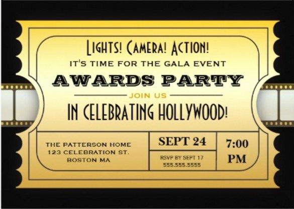 15 Award Invitation Templates – Free Sample Example