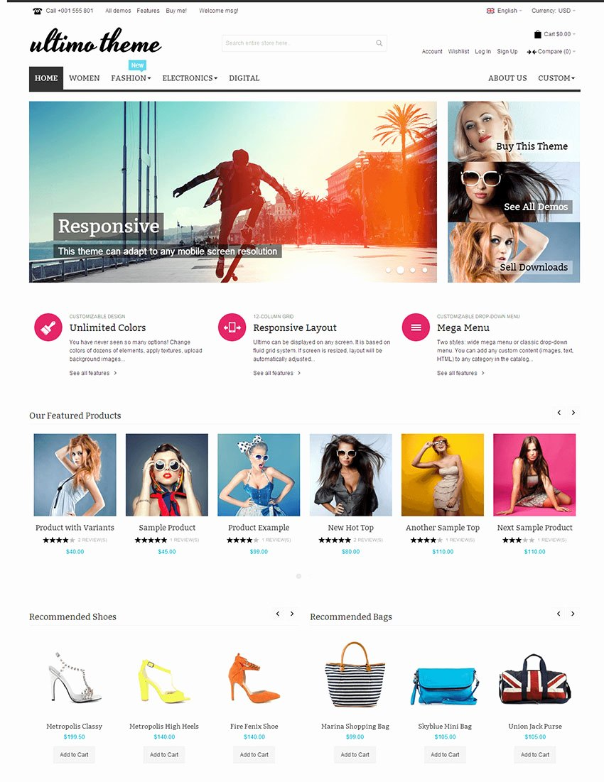 15 Best E Merce Website Templates Trending In 2016