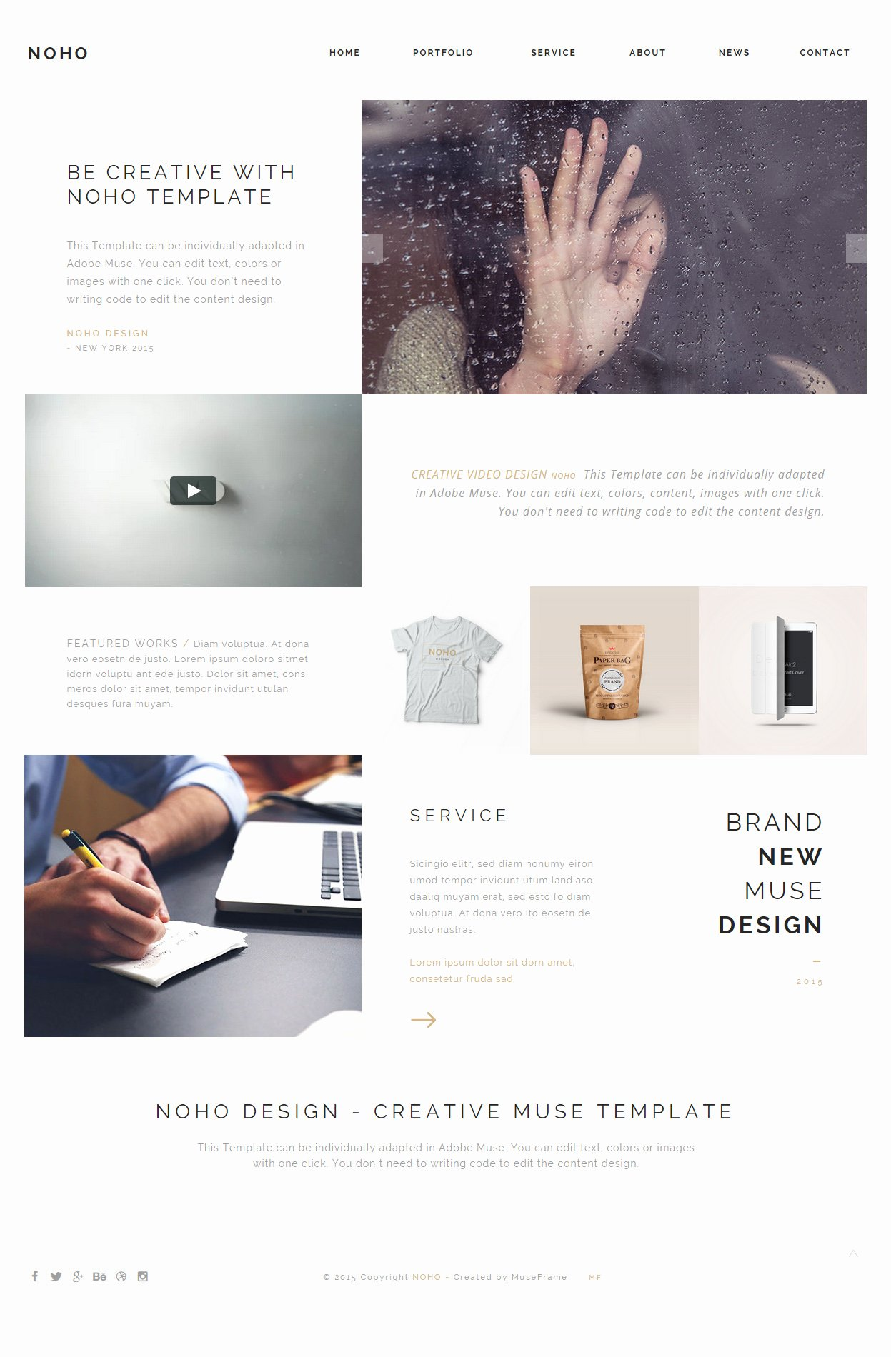 15 Best E Page Muse Templates 2017 Responsive Miracle