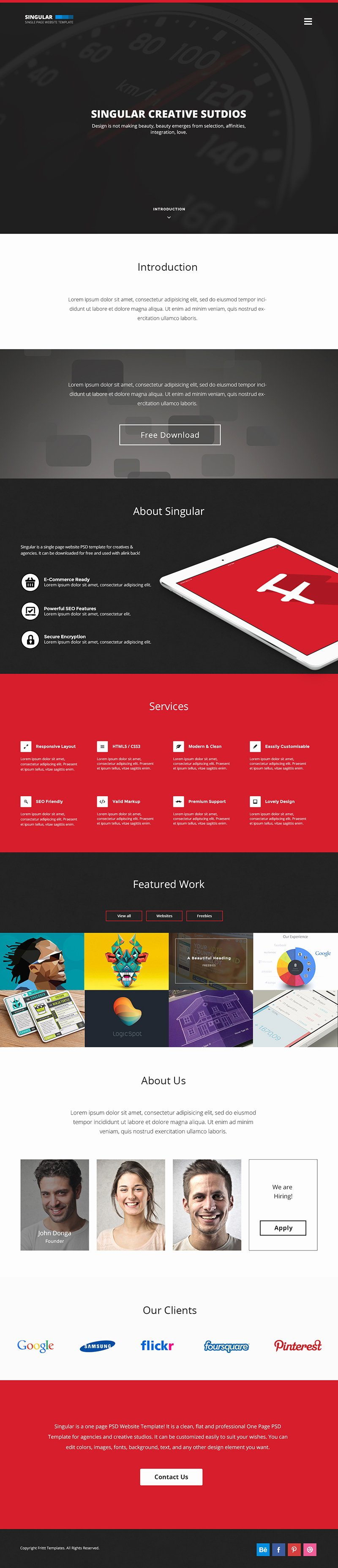 15 Best E Page Website Psd Templates for Web Designers