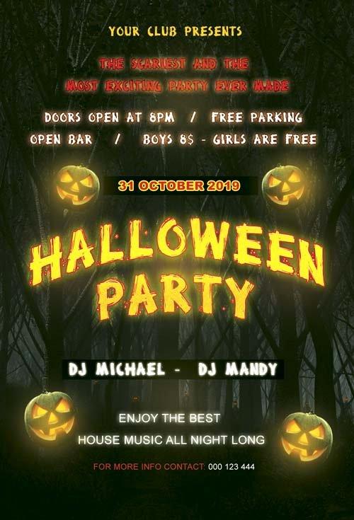 15 Best Free Halloween Flyer Psd Templates Designsave