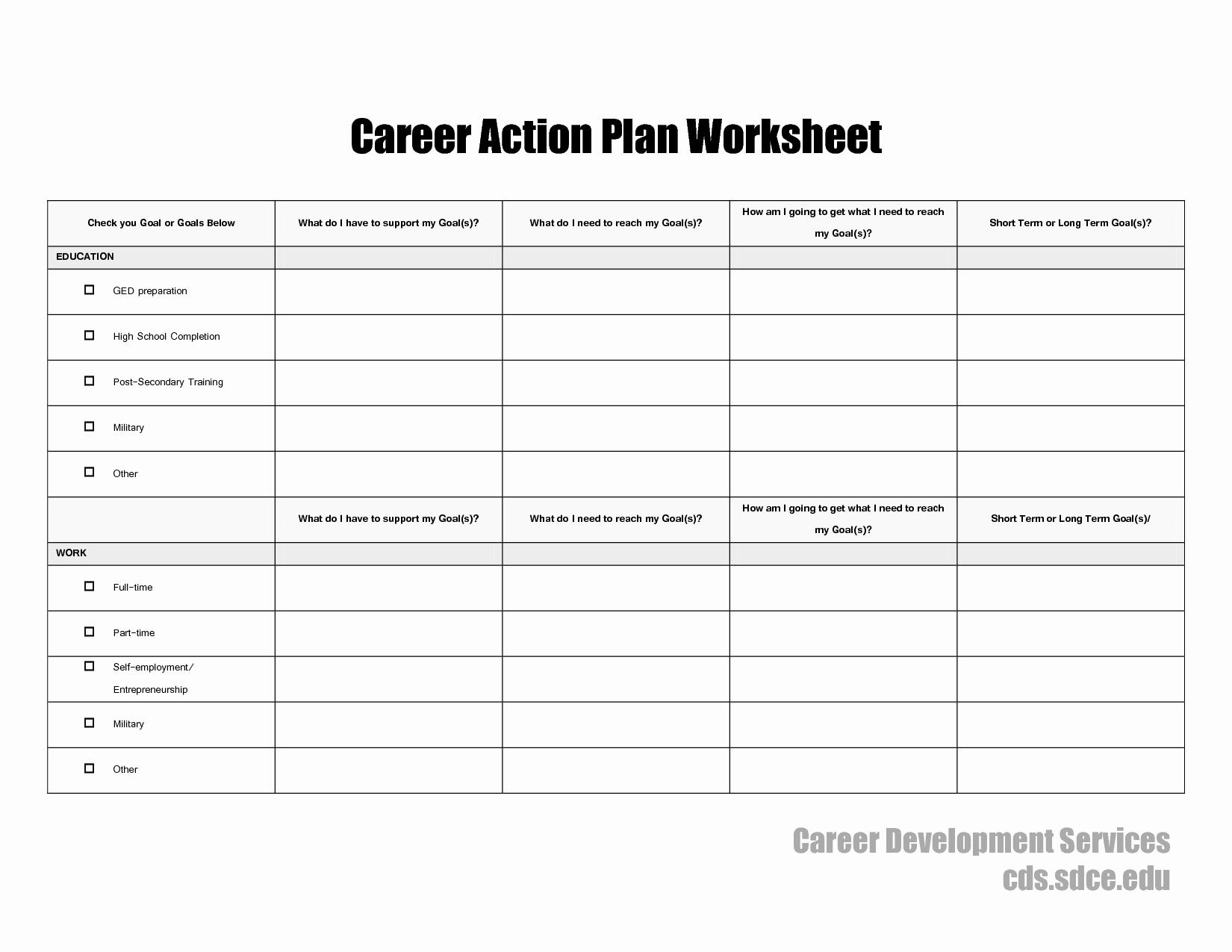 15 Best Of My Career Worksheet Career Exploration