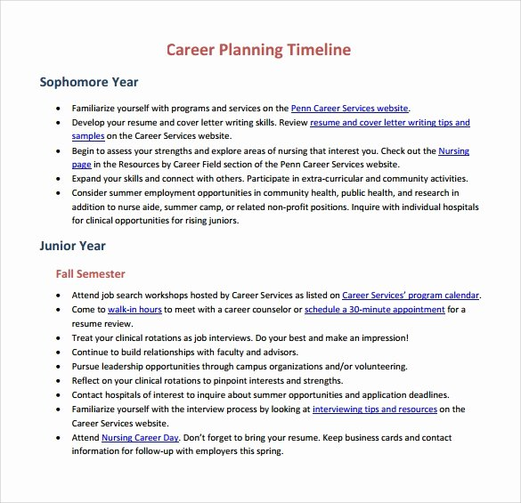 15 Career Timeline Templates – Samples Examples & format