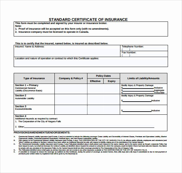 15 Certificate Of Insurance Templates to Download
