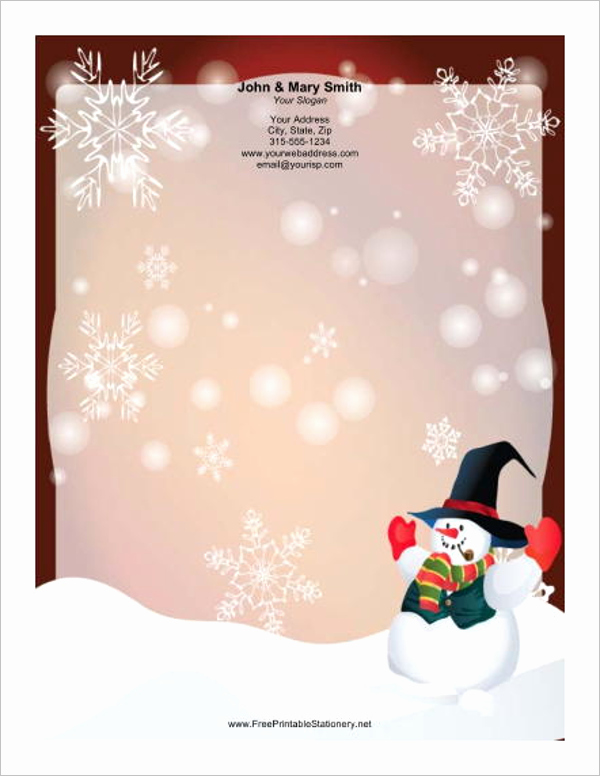 15 Christmas Letterhead Templates Free Word Designs