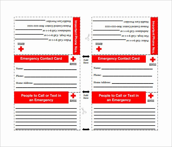image relating to Printable Emergency Contact List named 6 Most straightforward Of No cost Printable Crisis Call Listing Latter