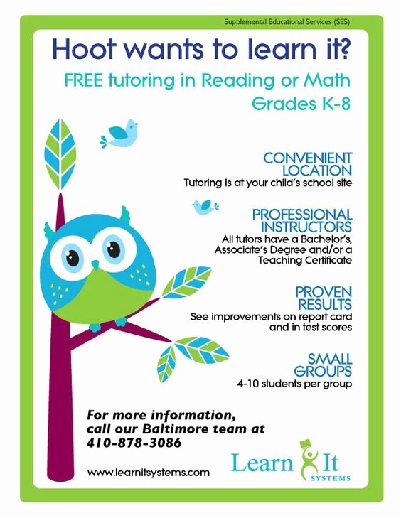 15 Cool Tutoring Flyers 9 Tutoring Pinterest