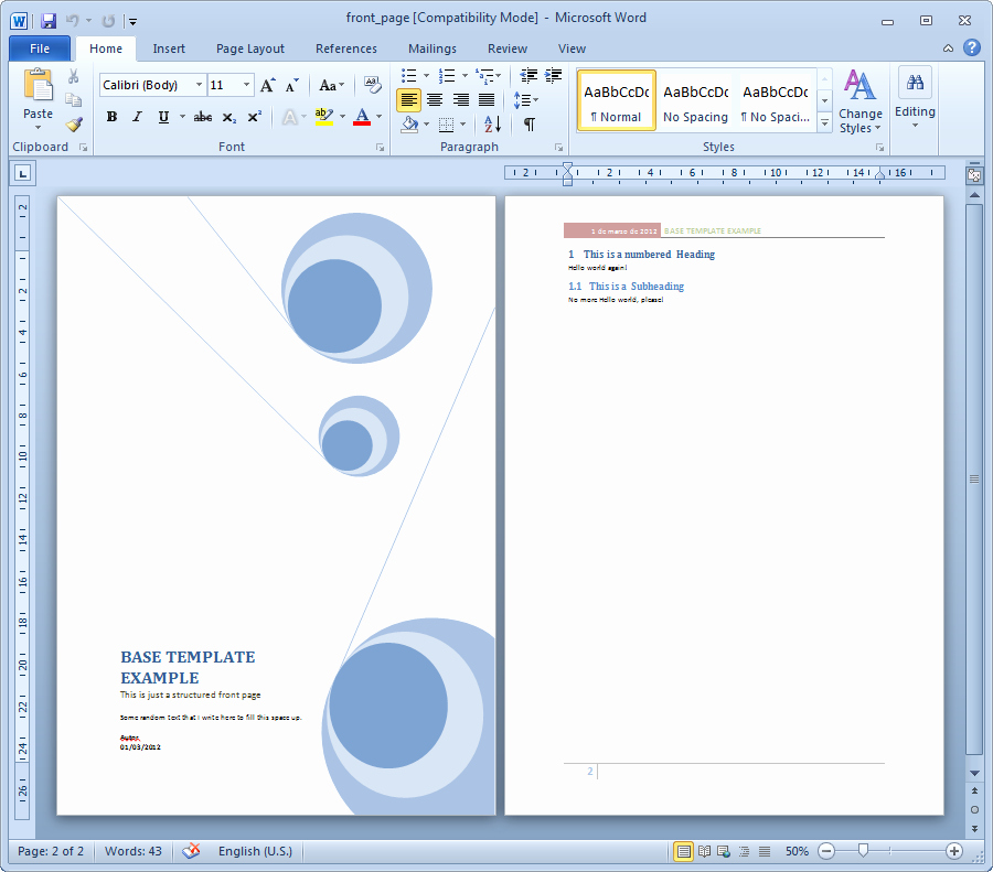 15 Cover Page Template Microsoft Word Report