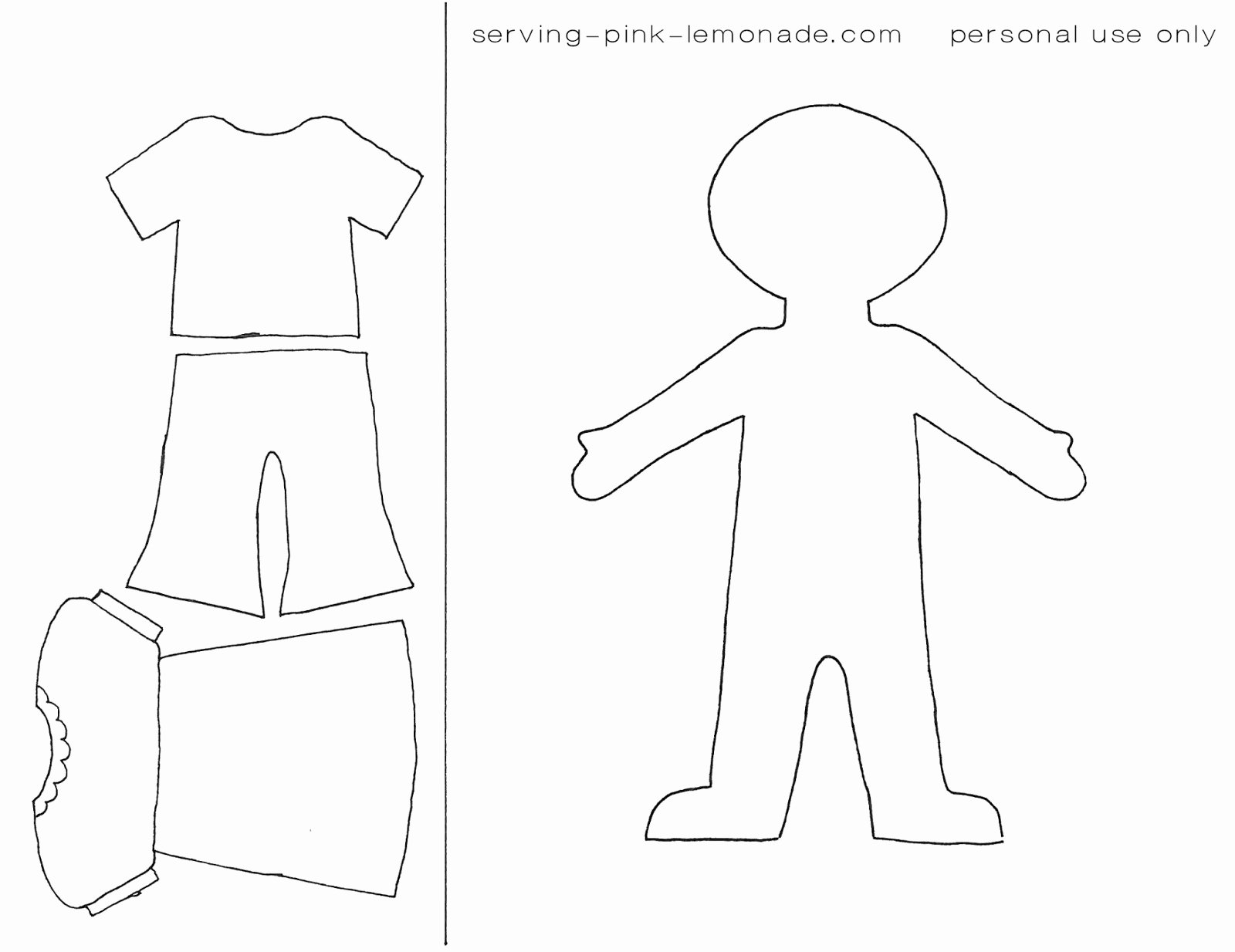 15 Cut Out People Template Printable Paper People