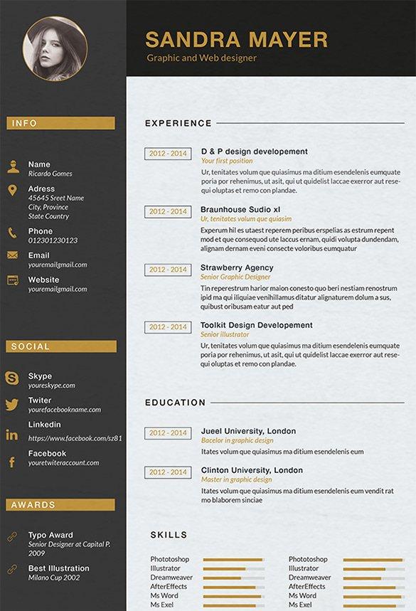 15 Designer Resume Templates Doc Pdf