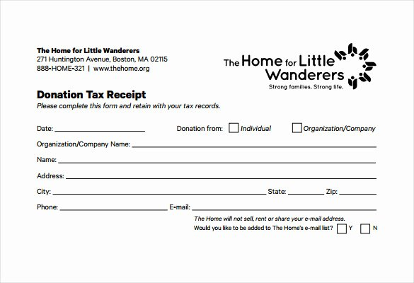 15 Donation Receipt Template Samples