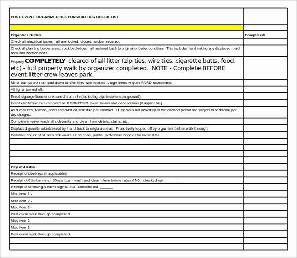 15 event Checklist Templates Pdf Doc