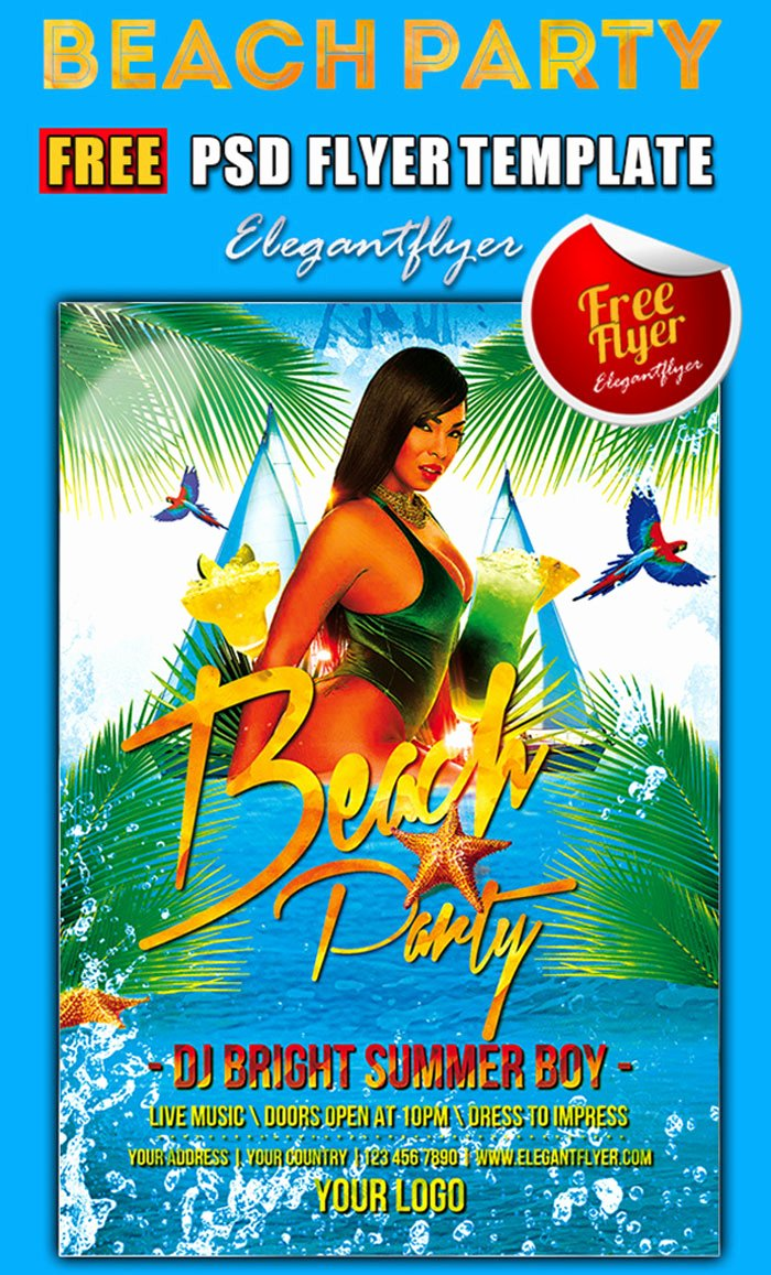15 Free Beach Party Flyer Psd Templates Designyep