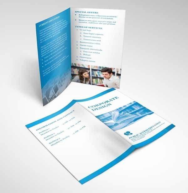 15 Free Bifold Brochure Mockup Psd for Print Design