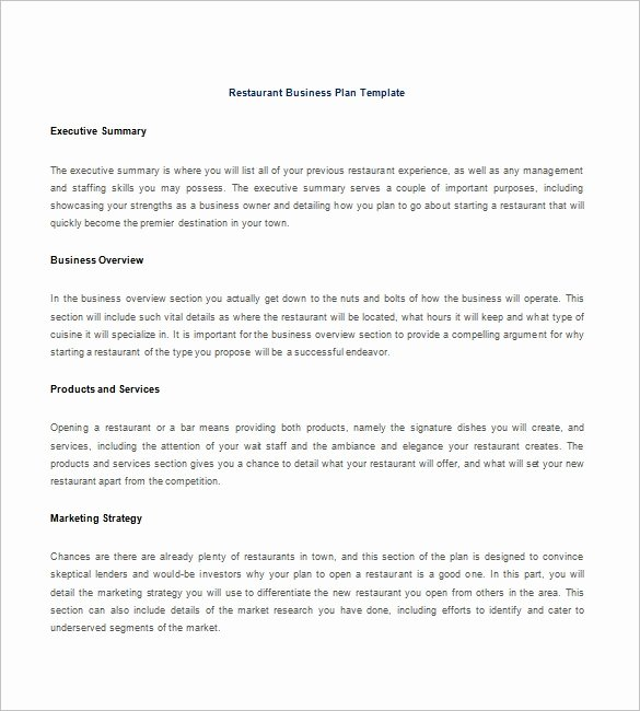 15 Free Business Plan Template Word Pdf Template Section