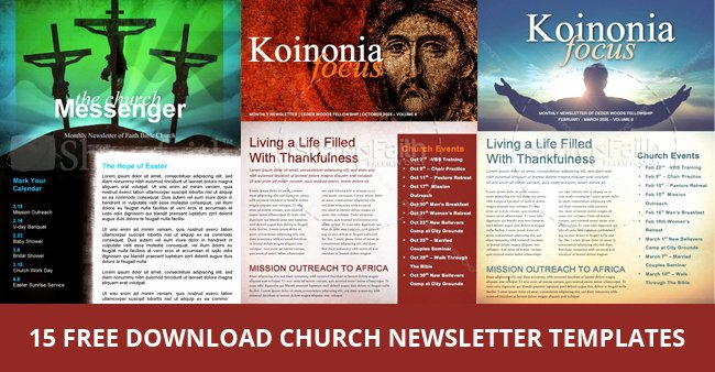 15 Free Church Newsletter Templates Ms Word Publisher