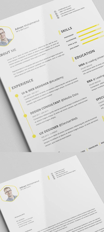 15 Free Elegant Modern Cv Resume Templates Psd