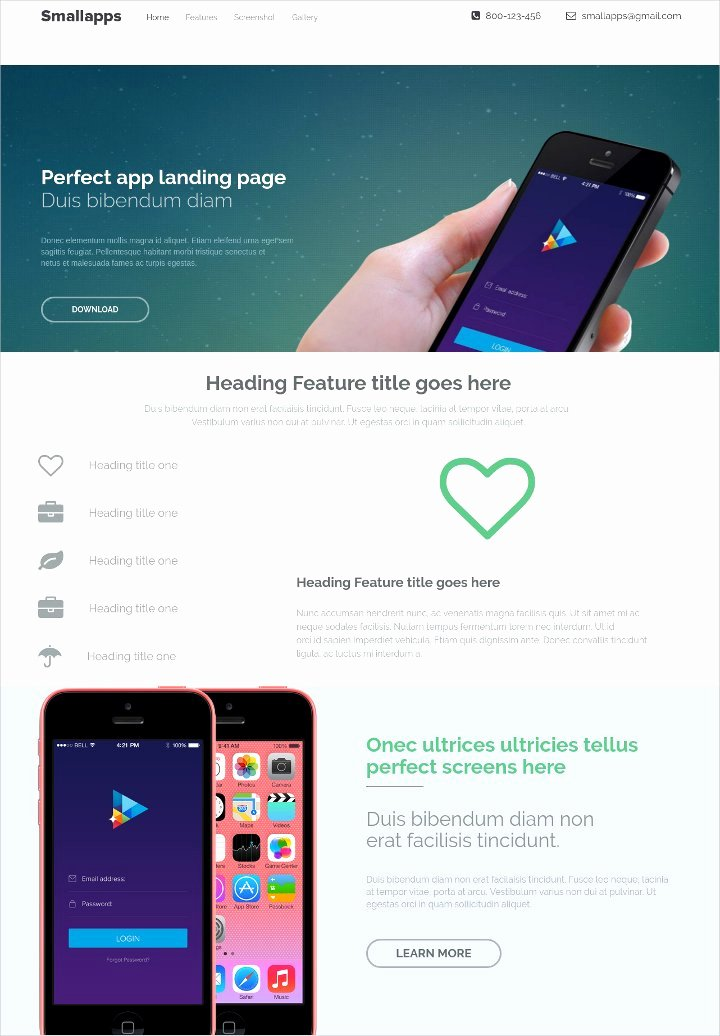 15 Free Landing Page themes & Template Product App
