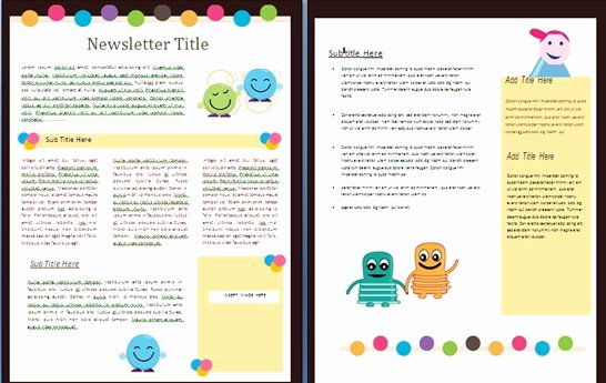free newsletter templates for teachers school