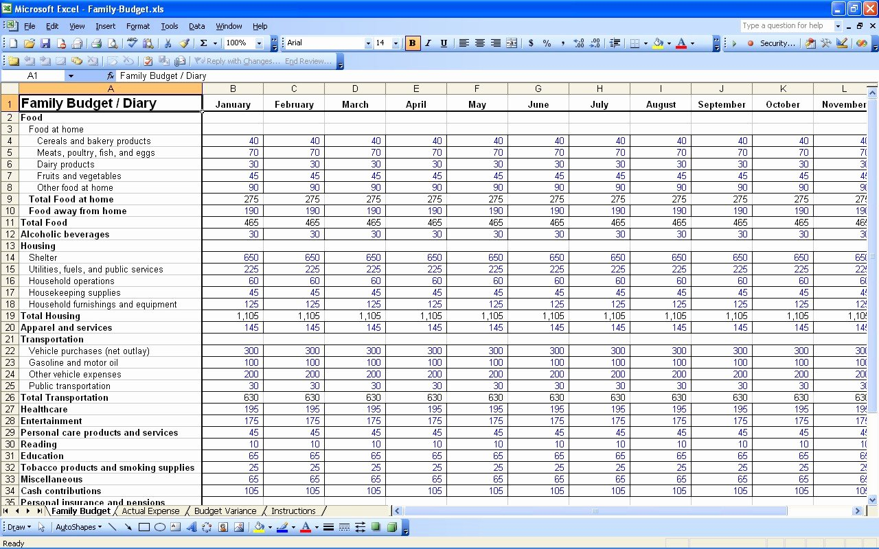 15 Free Personal Bud Spreadsheet – Excel Spreadsheet