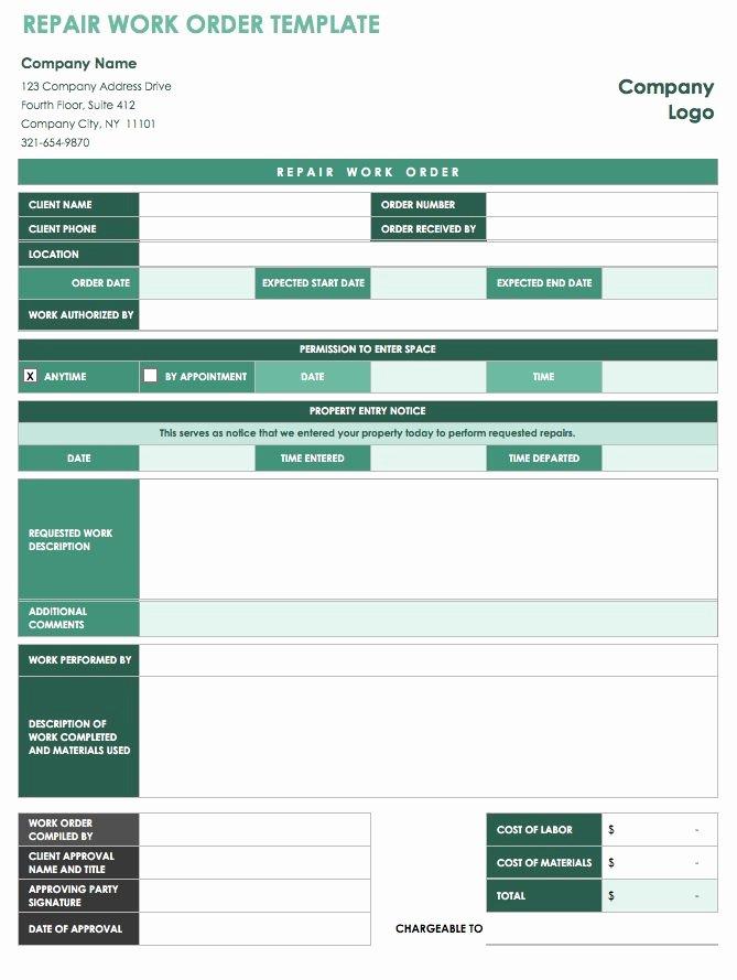 15 Free Work order Templates