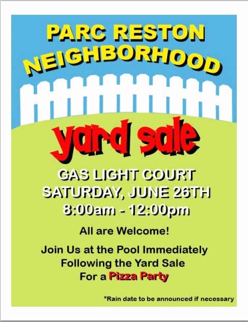15 Free Yard Sale Flyers Great Help Demplates
