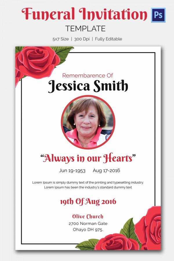 15 Funeral Invitation Templates – Free Sample Example