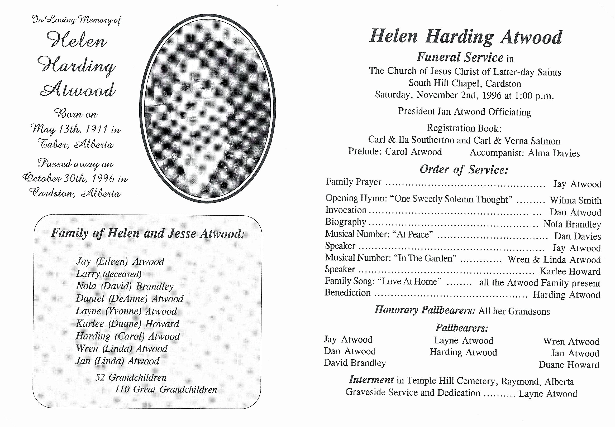 15 Funeral order Of Service Template Free