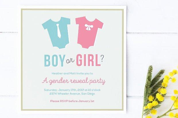15 Gender Reveal Invitations Printable Psd Ai Eps